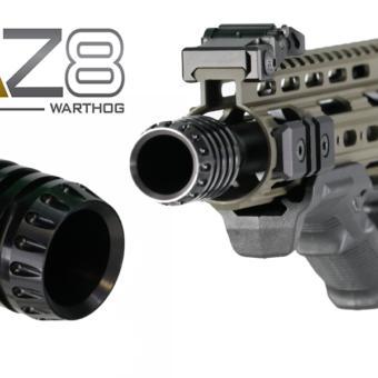 aaz8 muzzle brake cone device aluminum anodized black AR15 AR-15 M4 M16 .300 AAC blackout 7.62 x 39 54 .308 barrel 5/8×24 gun life rifle rated top flash hider suppressor